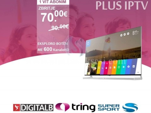 PLUS TV Ofrone 600 Kanale Televizive HD