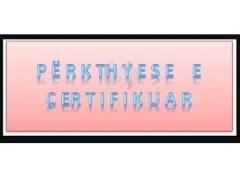Përkthyese e çertifikauar